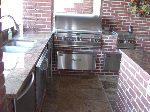 Outdoor Kitchen, Custom Pool, Inground Pools, Spas, Swimming Pools, The Clearwater Company, Columbia, SC
