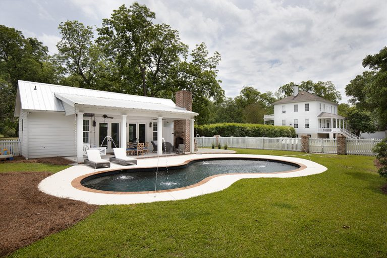 Figure 8 Backyard Pool, Custom Pool, Inground Pools, Spas, Swimming Pools, The Clearwater Company, Columbia, SC