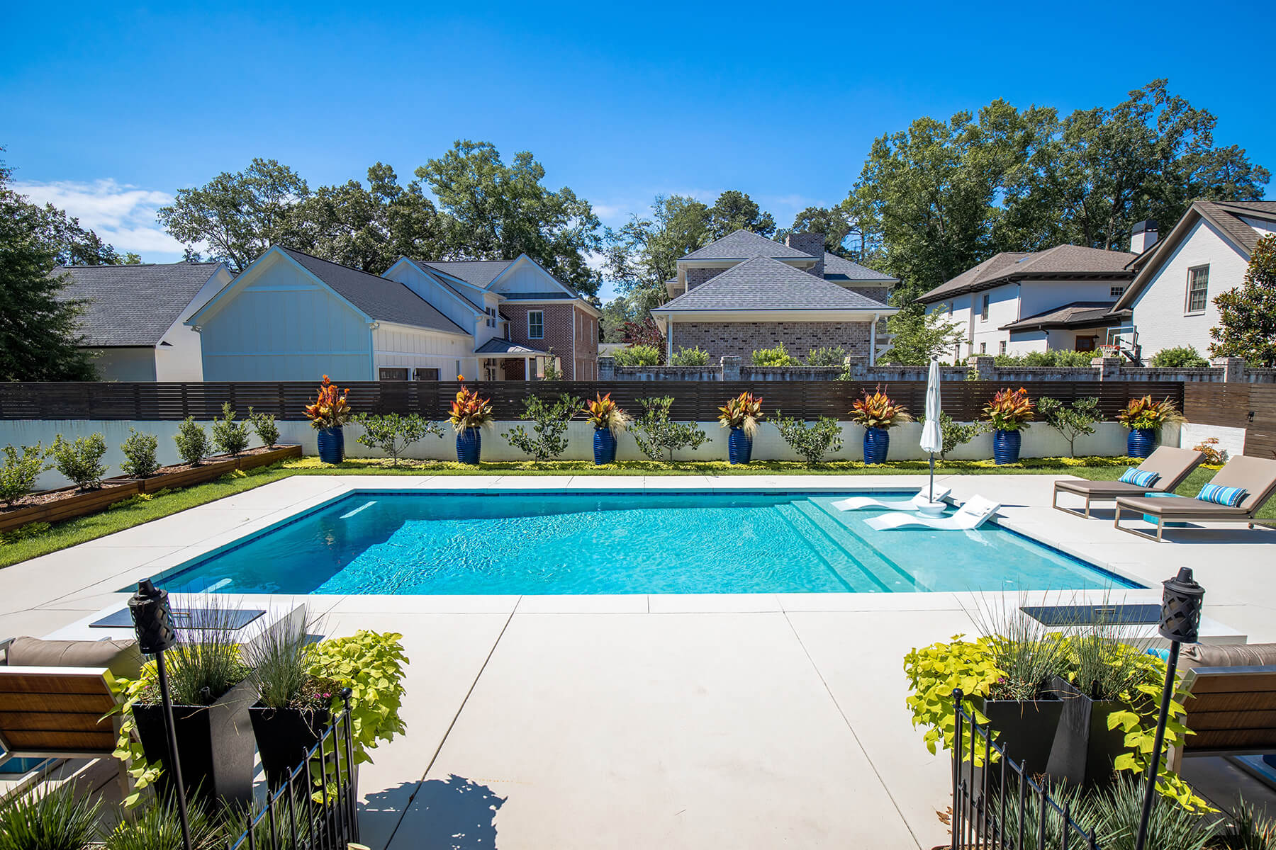 Modern Rectangle Pool, Custom Pool, Inground Pools, Spas, Swimming Pools, The Clearwater Company, Columbia, SC