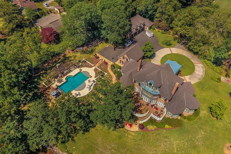 Two-Level Backyard Pool, Custom Pool, Inground Pools, Spas, Swimming Pools, The Clearwater Company, Columbia, SC